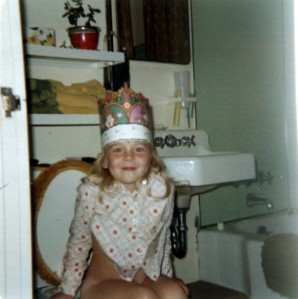 I've got the crown, the throne, no wonder I've always thought I'm the queen!